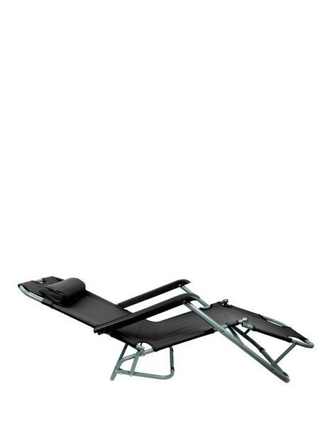 streetwize-accessories-metal-sun-lounger-black
