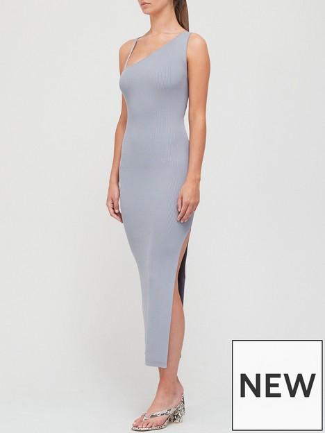 bec-bridge-harper-knit-asymmetric-dress-blue