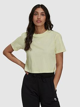 adidas-originals-tennis-luxe-cropped-tee-yellow