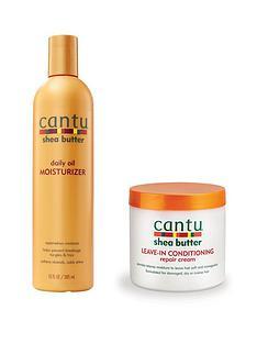 cantu-cantu-repair-cream-453g-and-daily-hold-moisturiser-348ml-bundle
