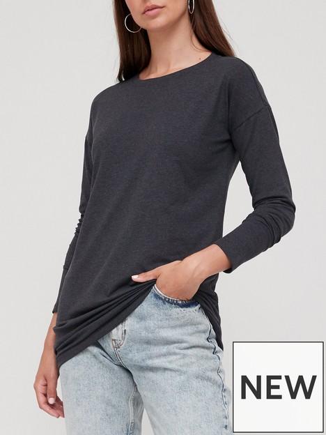 v-by-very-long-sleeve-tunic-charcoal-marl
