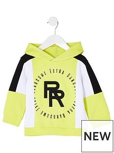 river-island-mini-mini-boys-colourblock-hoodie-lime