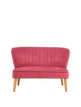 Premier Housewares Mia Kids Sofa - Pink Velvet