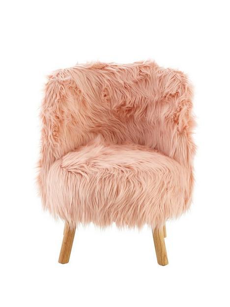 premier-housewares-kids-faux-furnbspchair-pink