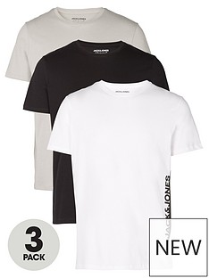 jack-jones-jorharry-side-short-sleevenbspcrew-neck-3-pack-t-shirt-blackwhitegrey