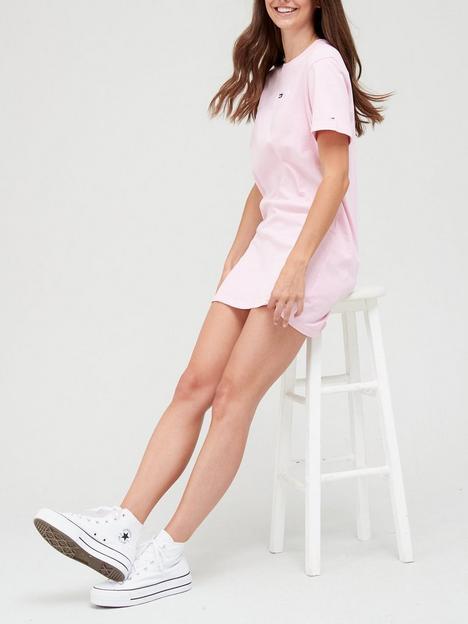 tommy-jeans-t-shirt-dress-pinknbsp