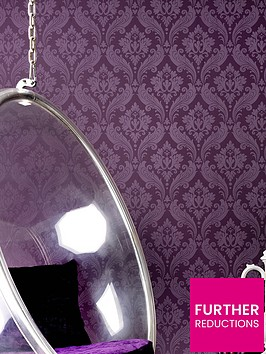 kelly-hoppen-vintage-flock-wallpaper-grape