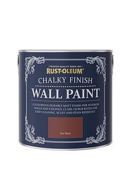 Rust-Oleum Rust-Oleum Chalky Wall Paint Fire Brick 2.5L