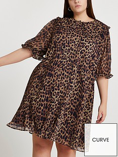 ri-plus-leopard-print-collar-detailnbspdressnbsp--animal