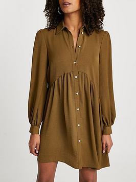river-island-long-sleeve-shirt-dress-khaki