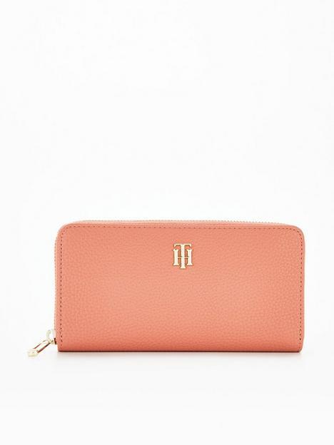 tommy-hilfiger-zip-around-large-purse-peach
