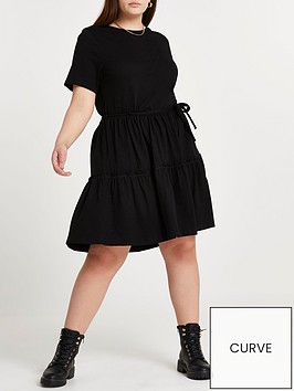 ri-plus-plus-short-sleeve-tiered-smock-dress-black