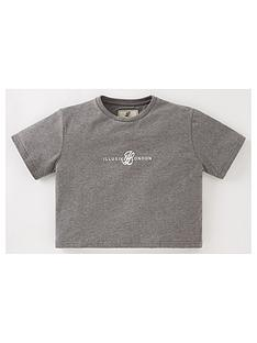 illusive-london-girls-dual-crop-short-sleeve-t-shirt-grey