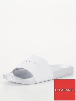 tommy-hilfiger-metallic-pool-slide-white