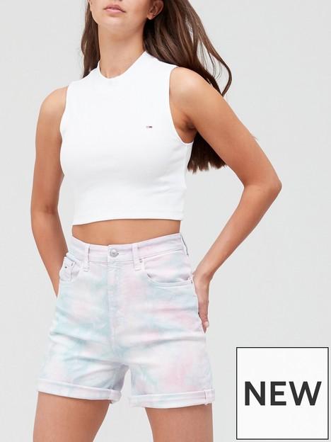 tommy-jeans-crop-mock-neck-rib-tank-white