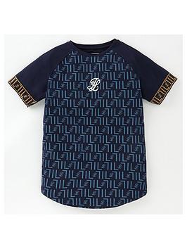 illusive-london-boys-elite-short-sleeve-tech-t-shirt-navy
