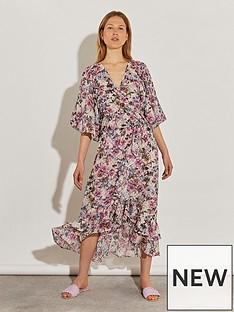 river-island-wrap-midi-blouson-sleeve-dress--floral