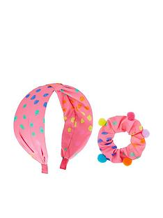 monsoon-girls-polka-dot-knotted-hairband-and-pom-scrunchie-set-multi