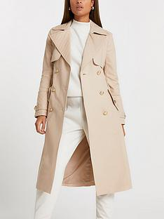 river-island-quilted-fitted-trench-coat-cream