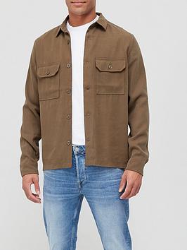 Allsaints Brevet Long Sleeve Shirt - Khaki