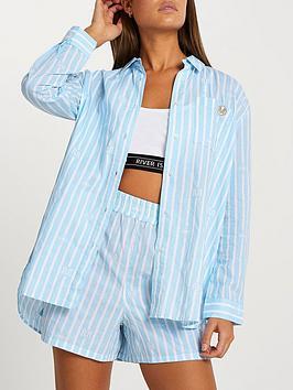 river-island-oversized-stripe-bed-shirt-bluenbsp