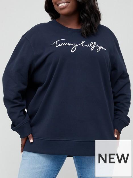 tommy-hilfiger-curve-graphic-crew-neck-sweatshirt-navy
