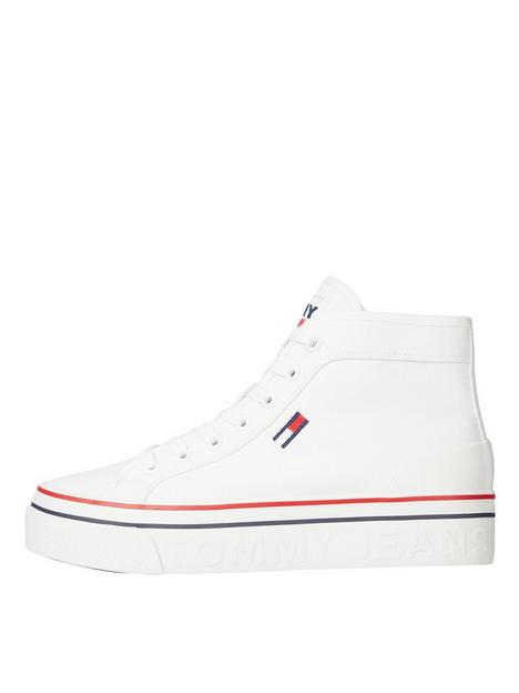 tommy-jeans-recycled-fabric-mid-flatform-hi-top-trainer-white