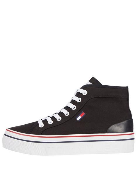 tommy-jeans-recycled-fabric-mid-flatform-hi-top-trainer-black