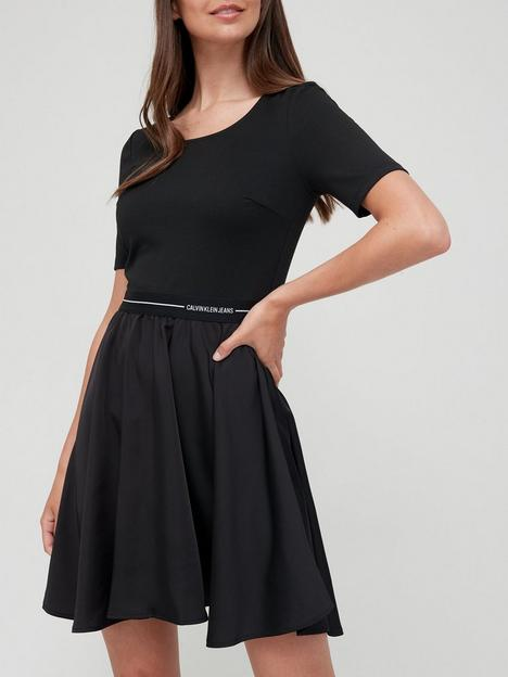 calvin-klein-jeans-logo-elastic-dress-black