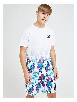 illusive-london-boys-neon-floral-fade-short-sleeve-t-shirt-multi
