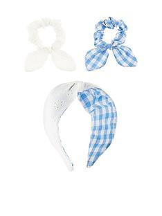monsoon-girls-reversible-broderie-gingham-hairband-and-scrunchie-multi