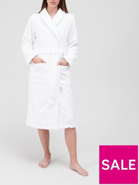 calvin-klein-embossed-logo-cotton-terry-bathrobe-white