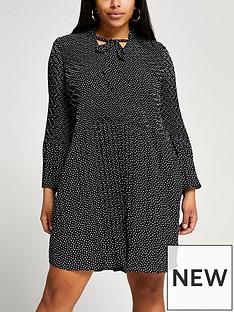 ri-plus-plus-spot-dress-black