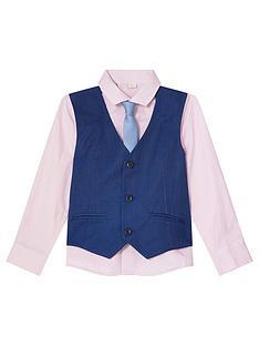monsoon-boys-jake-3-piece-waistcoat-shirt-set-blue