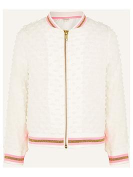 monsoon-girls-bobble-bomber-jacket-white