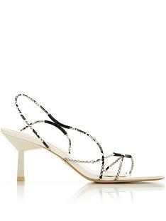 kat-maconie-le-clique-kirby-snake-effect-strappy-mid-heels-cream