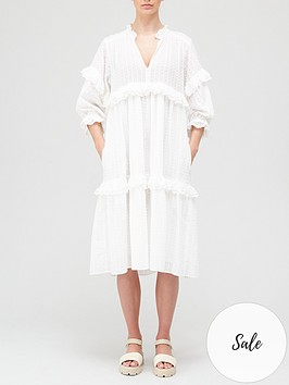 hofmann-copenhagen-jeanne-midinbspdress-white