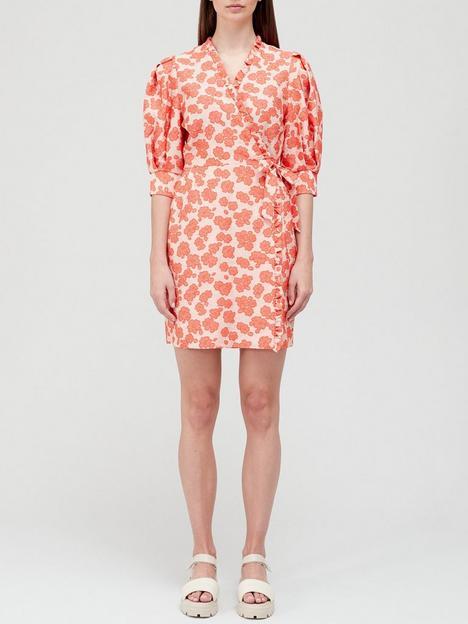 hofmann-copenhagen-kristen-mini-dress-coral