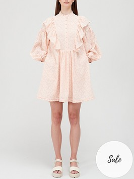 hofmann-copenhagen-elise-mini-dress-peach