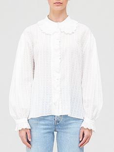 hofmann-copenhagen-elodie-collar-blouse-white