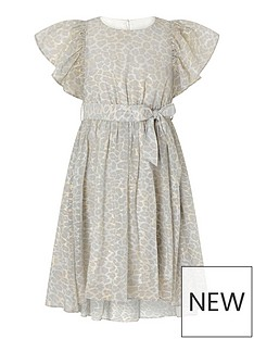 monsoon-girls-alanis-animal-flutter-sleeve-dress-grey