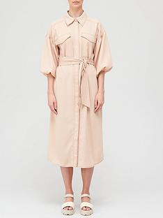 hofmann-copenhagen-iris-belted-shirt-dress-peach