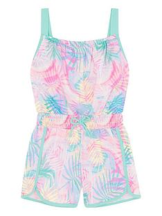 monsoon-girls-active-palm-print-playsuit-pink