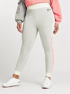 ri-plus-colourblock-leggings-grey
