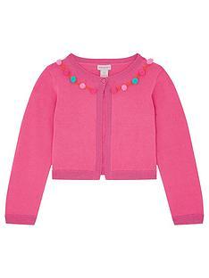 monsoon-girls-pom-pom-bolero-bright-pink
