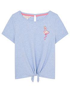 monsoon-girls-flamingo-tie-front-tshirt-blue