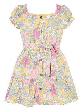 monsoon-girls-sew-floral-linen-puff-sleeve-dress-yellow