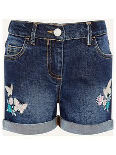 monsoon-girls-butterfly-denim-short-blue