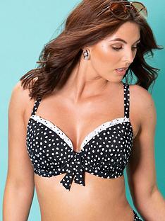 pour-moi-hot-spots-lightly-padded-underwired-bikininbsptop-blackwhitenbsp