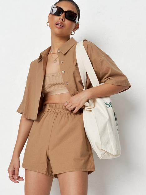 missguided-missguied-linen-look-shorts-co-ord
